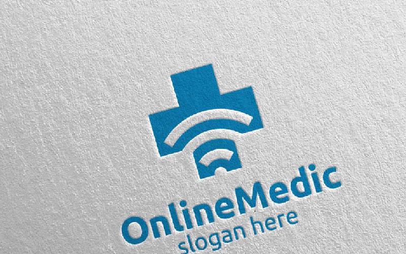 Plantilla de logotipo de Cross Medical Hospital Design 70