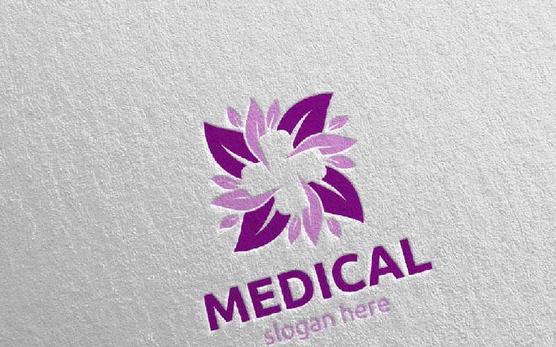 Plantilla de logotipo de Natural Cross Medical Hospital 78