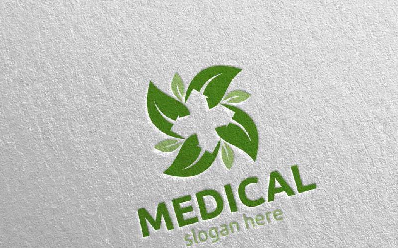 Plantilla de logotipo de Natural Cross Medical Hospital 82