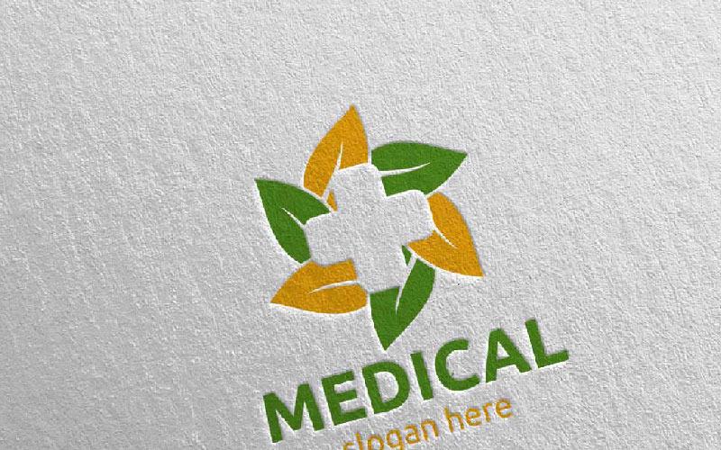 Plantilla de logotipo de Natural Cross Medical Hospital Design 69