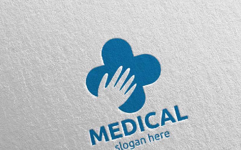 Plantilla de logotipo Hand Cross Medical Hospital 75