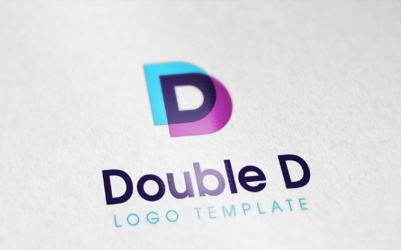 Plantilla editable de logotipo doble D