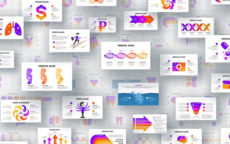 Royal Infographics - šablona Keynote