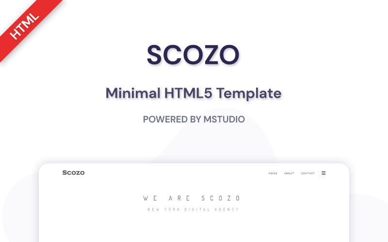 Scozo - Plantilla de sitio web HTML5 mínima