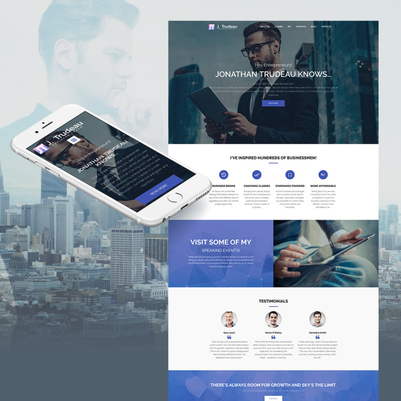 business coach website template for coaching services. Black Bedroom Furniture Sets. Home Design Ideas