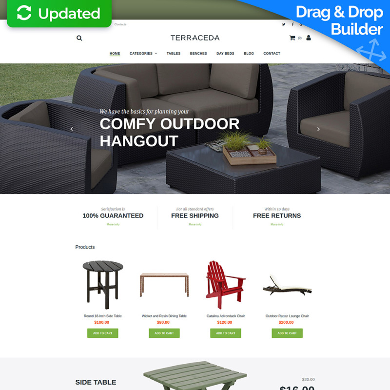 Furniture Shop Website Template For Outdoor Furniture