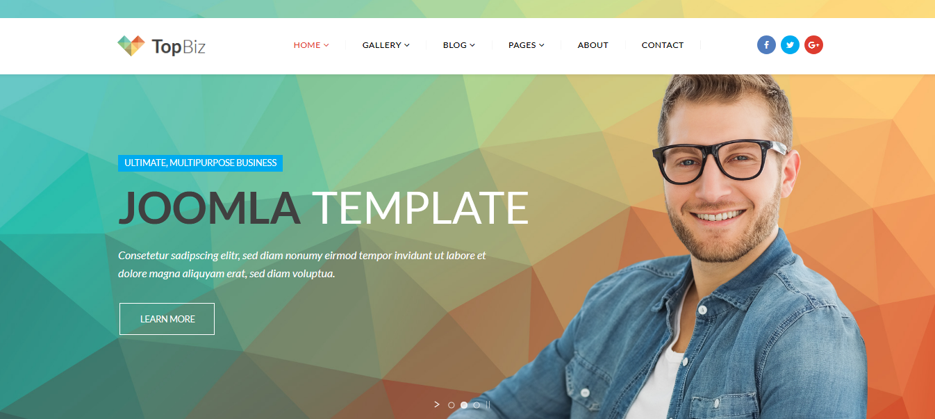 TopBiz - Responsive Corporate Joomla Template