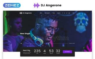 DJ Angerone - Music Multipage Modern HTML Website Template