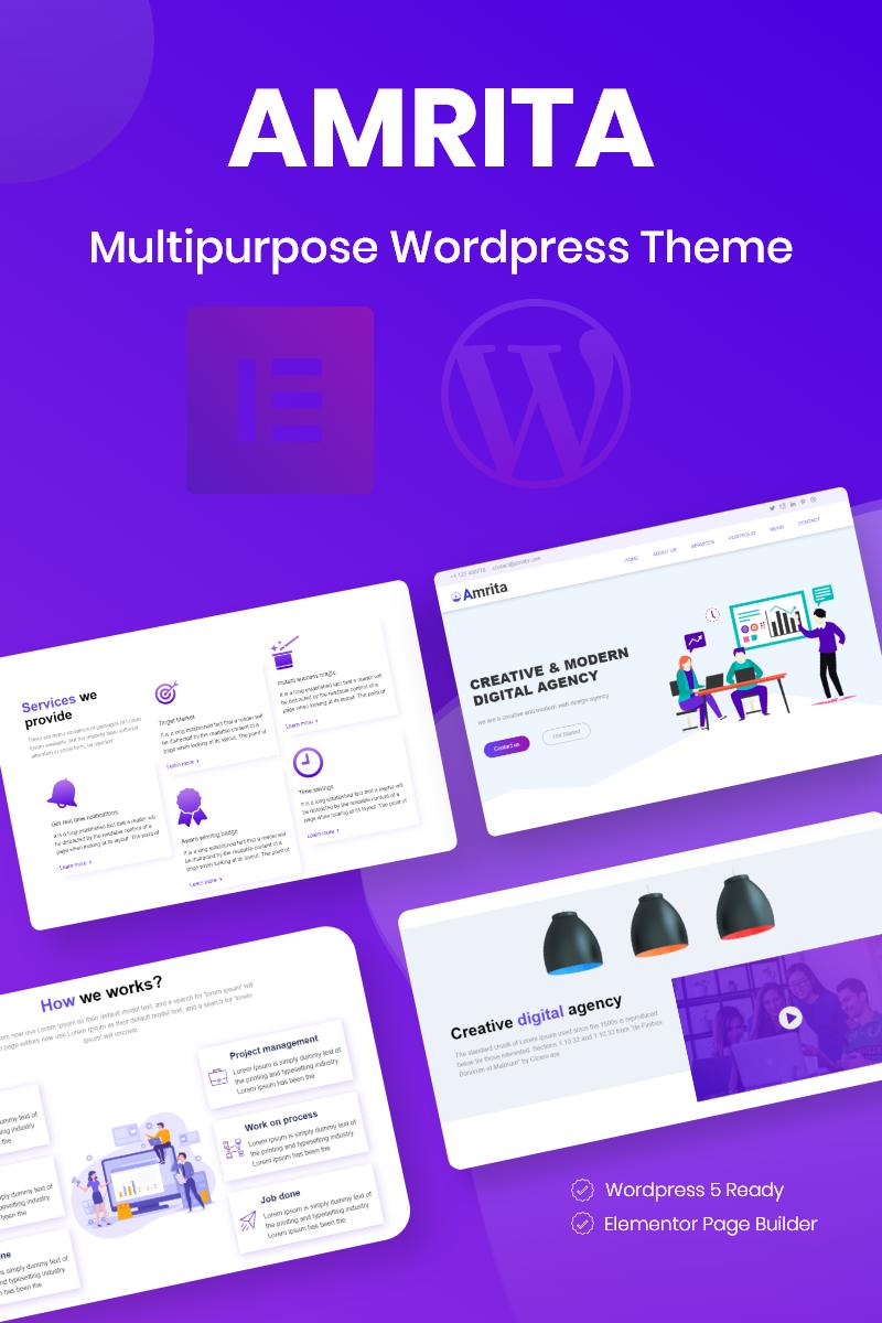 """""""Amrita Multipurpose Business"""" Responsive WordPress thema №80140"""
