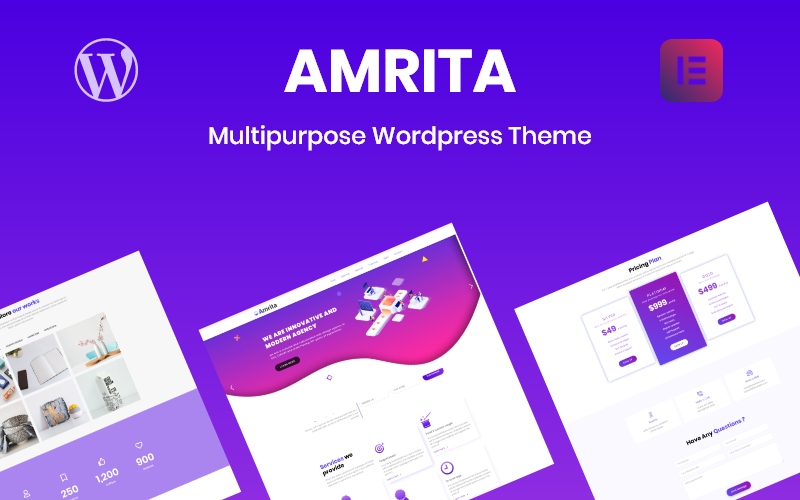 """Amrita Multipurpose Business"" 响应式WordPress模板 #80140"