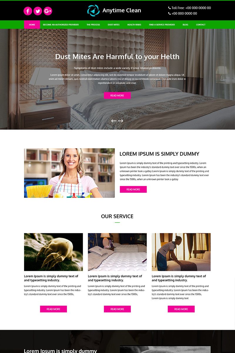 Anytime Clean - Multipurpose Cleaning PSD Template