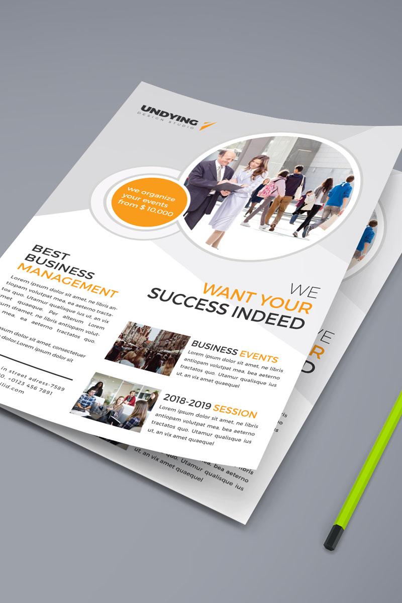 Business Management Flyer Corporate Identity Template - screenshot