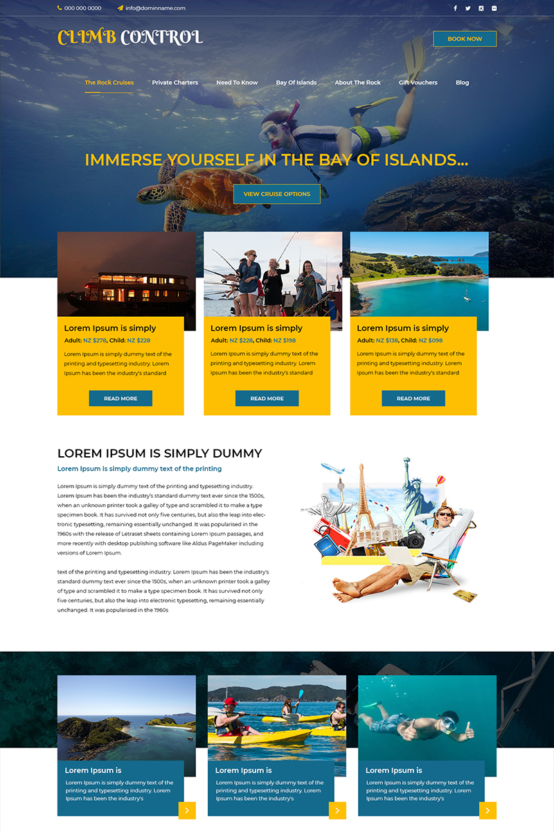 Climb Control- Adventure Travel PSD Template