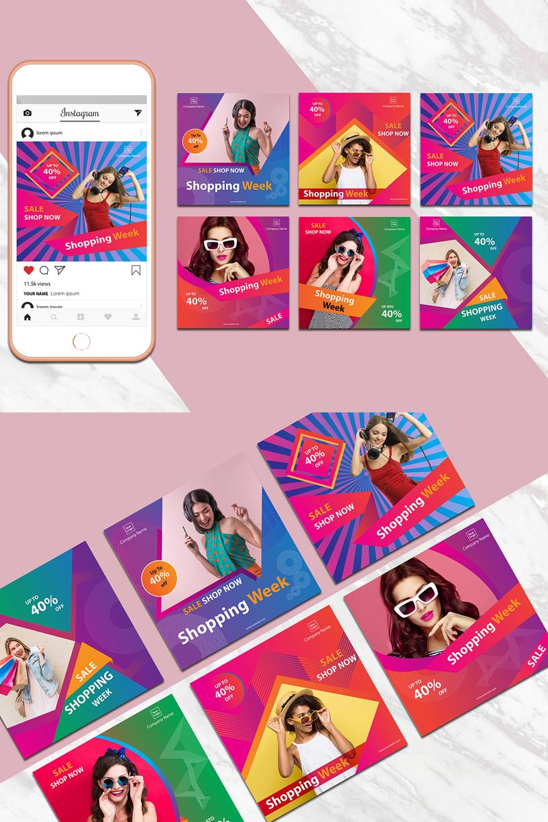 """Colorful Instagram Banner Pack"" média social  #80132 - screenshot"