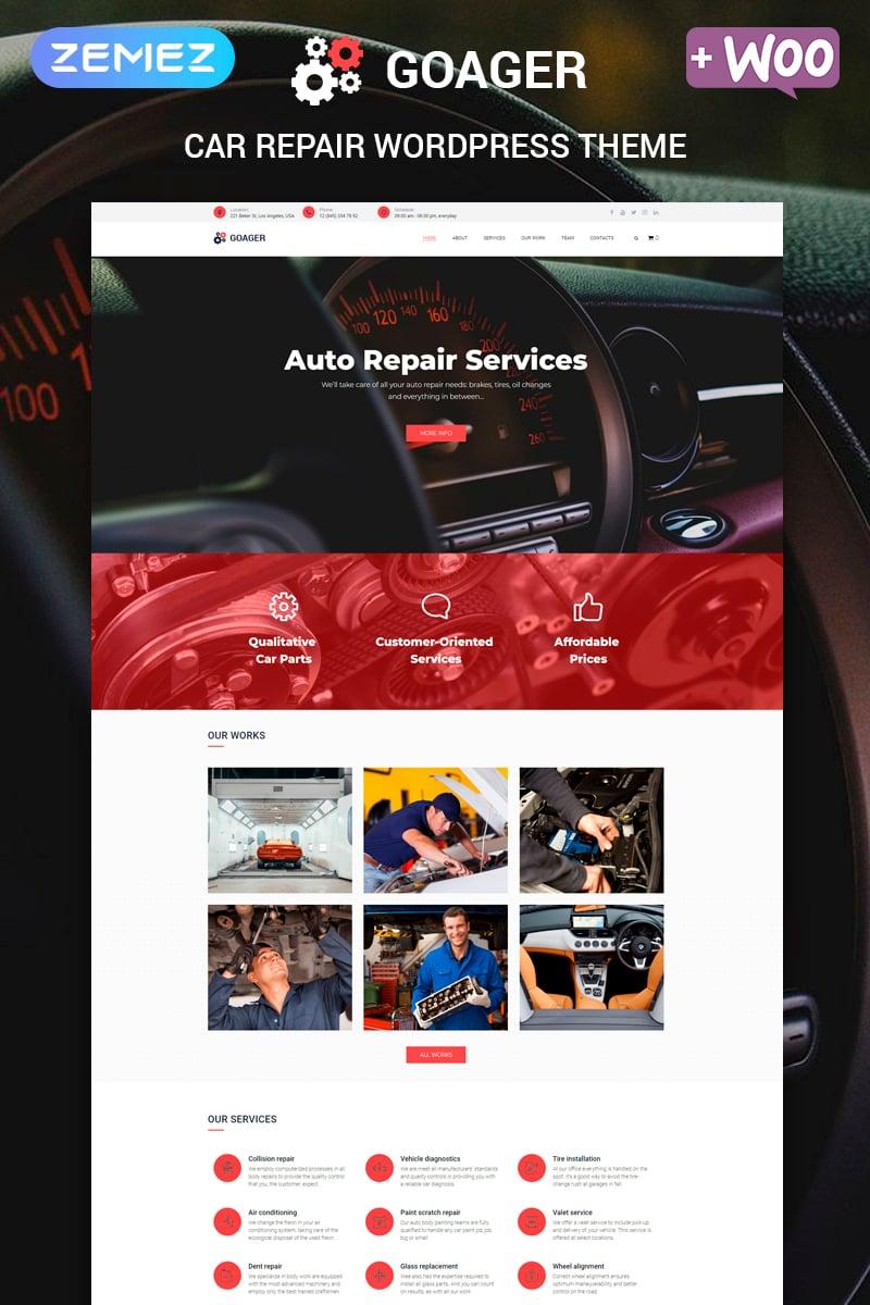 """Goager - Auto Repair ECommerce Modern Elementor"" Responsive WordPress thema №80169"