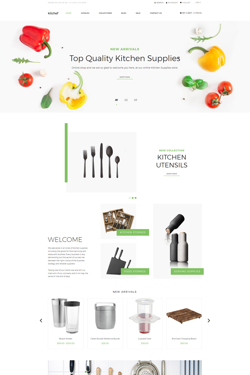 Kitchef - Housewares Ready-To-Use Clean Shopify Theme - screenshot