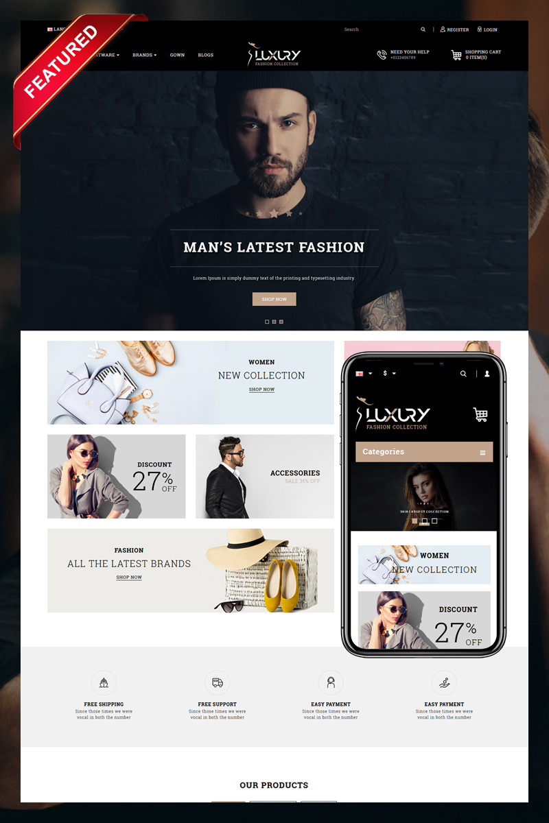 Luxury OpenCart Template
