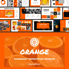 79d1a7d251b5 Orange Amazing PowerPoint Template  80160