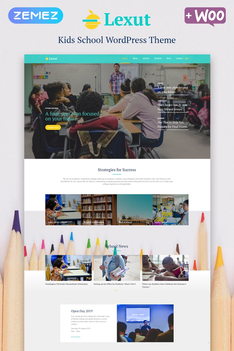 Responsive Lexut - Education ECommerce Modern Elementor Wordpress #80114