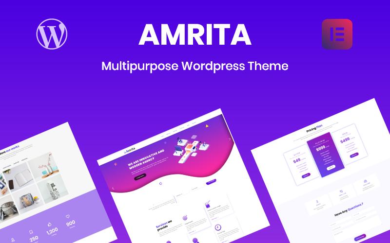 "Responzivní WordPress motiv ""Amrita Multipurpose Business"" #80140"