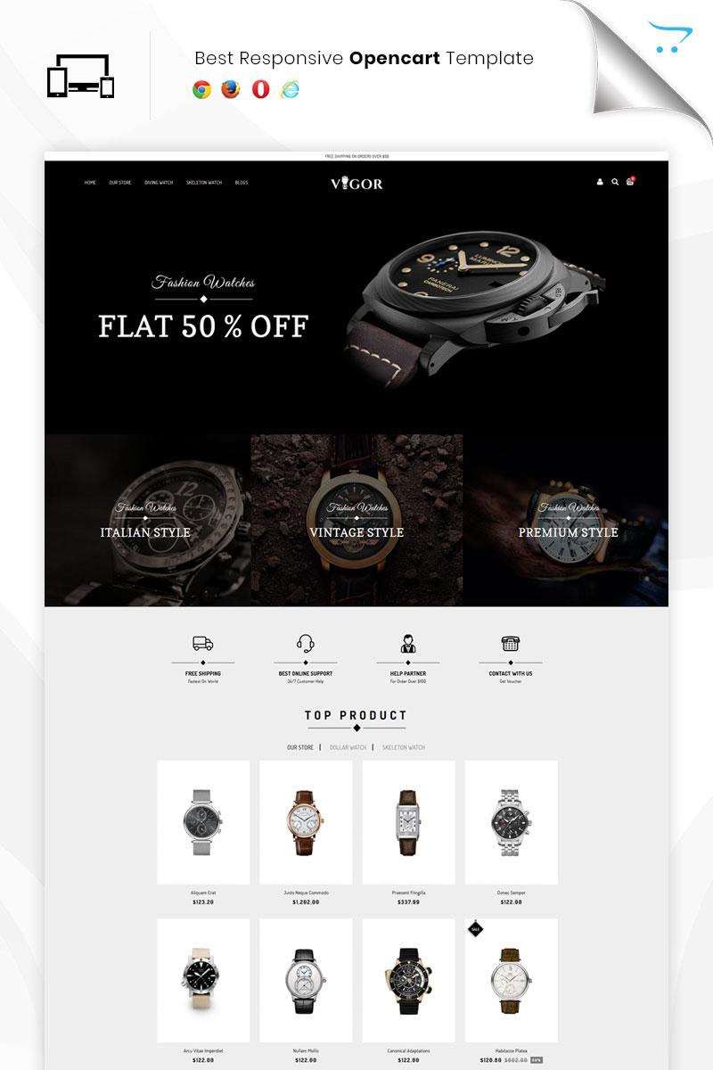 """Vigor - The Watch Store Responsive"" Bootstrap OpenCart Template №80197 - screenshot"
