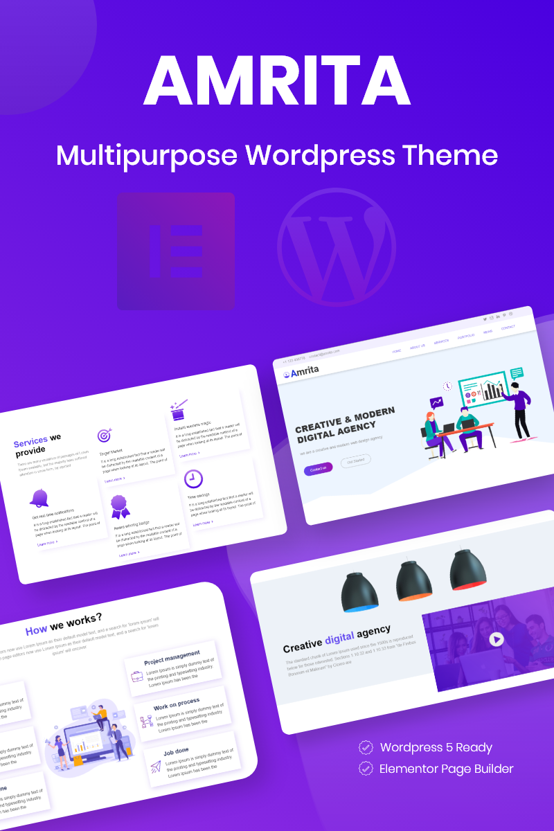 "WordPress Theme namens ""Amrita Multipurpose Business"" #80140"