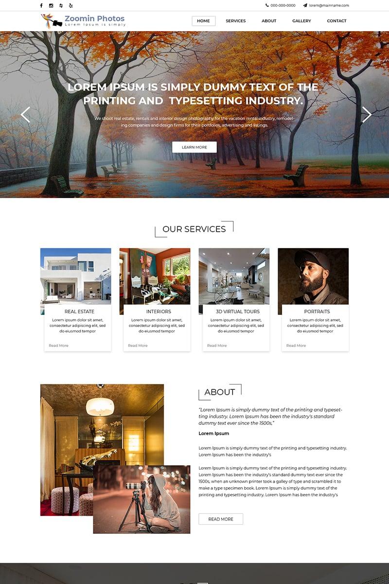 Zoomin Photos - Photography PSD Template