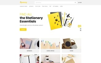 Tipstamp - Stationery Store Clean OpenCart Template