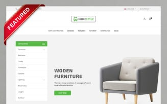 Homestyle Furniture Store OpenCart Template