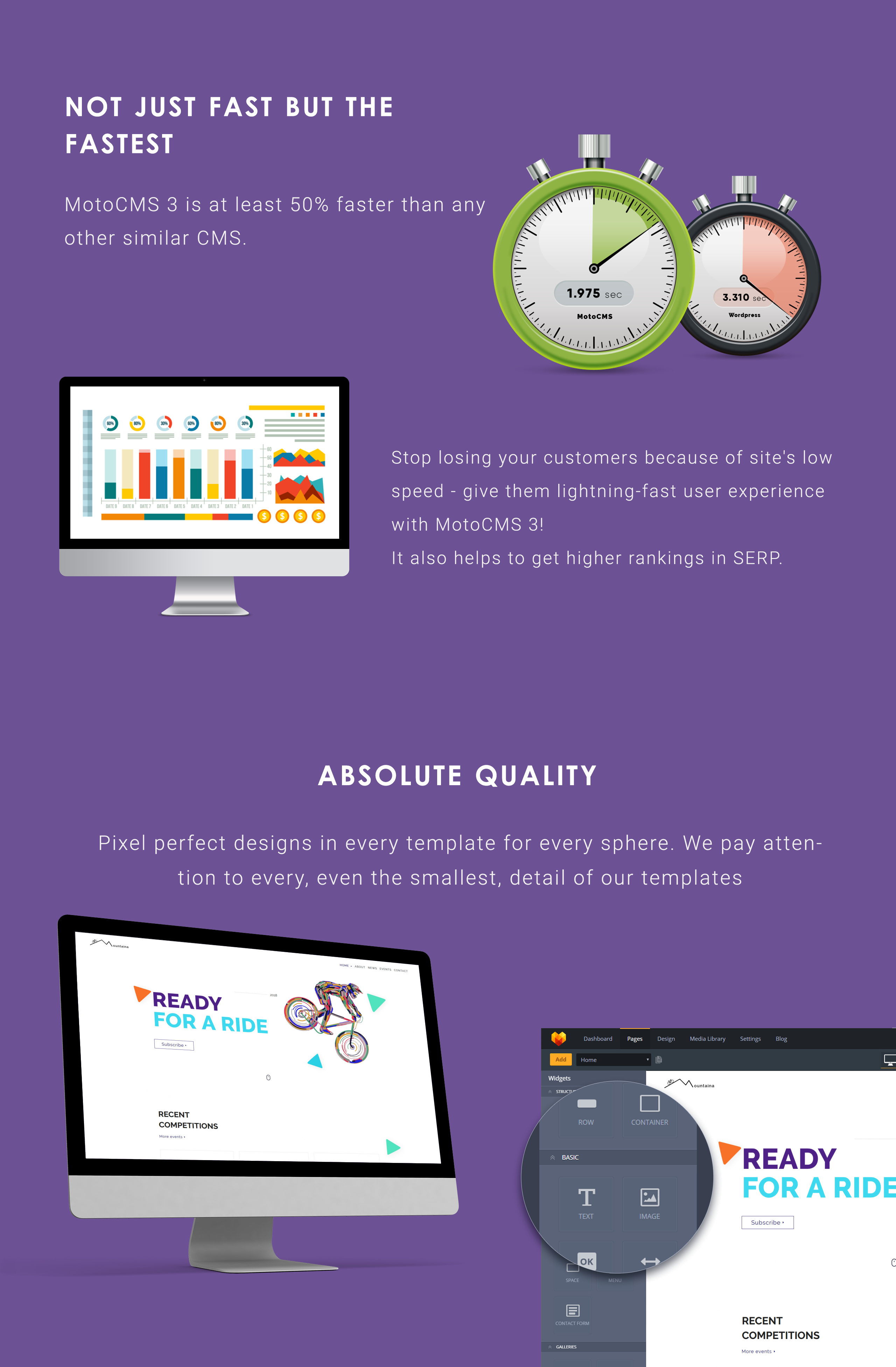 Montaina - Cycling Portal Moto CMS 3 Template