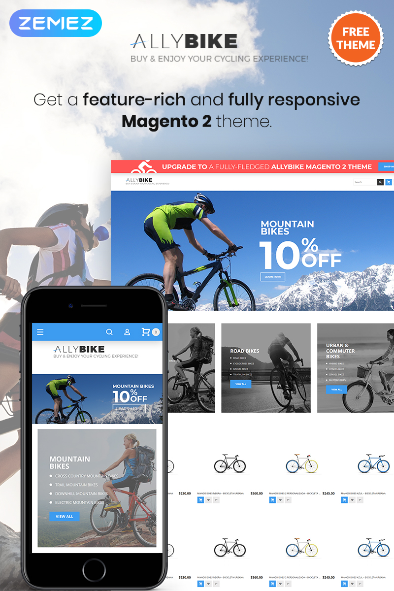 AllyBike - FREE Sports eCommerce Magento Theme