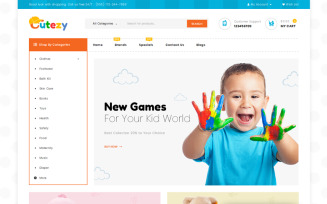 Cutezy - Kids & Toys Store OpenCart Template