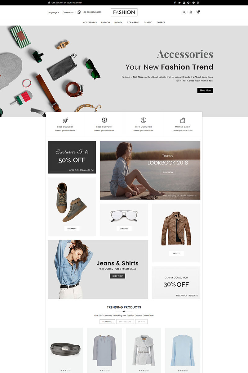 Fashion Clothing and Accessories Template OpenCart №80250