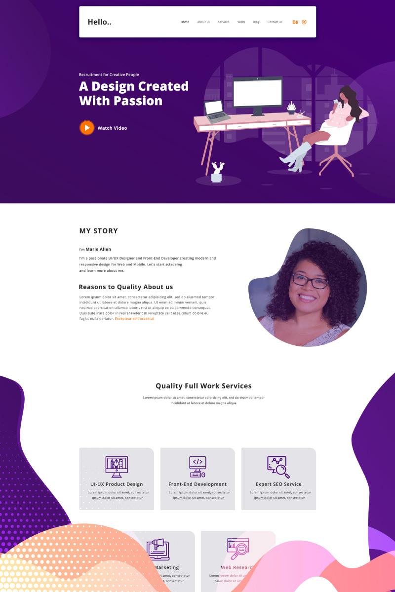 Hello - Personal Portfolio PSD Template