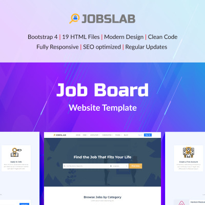 32 best job portal website templates. Black Bedroom Furniture Sets. Home Design Ideas