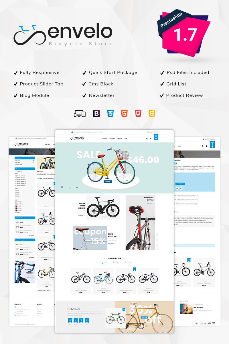 "PrestaShop Theme namens ""Envelo Bicycle Store"" #80244"