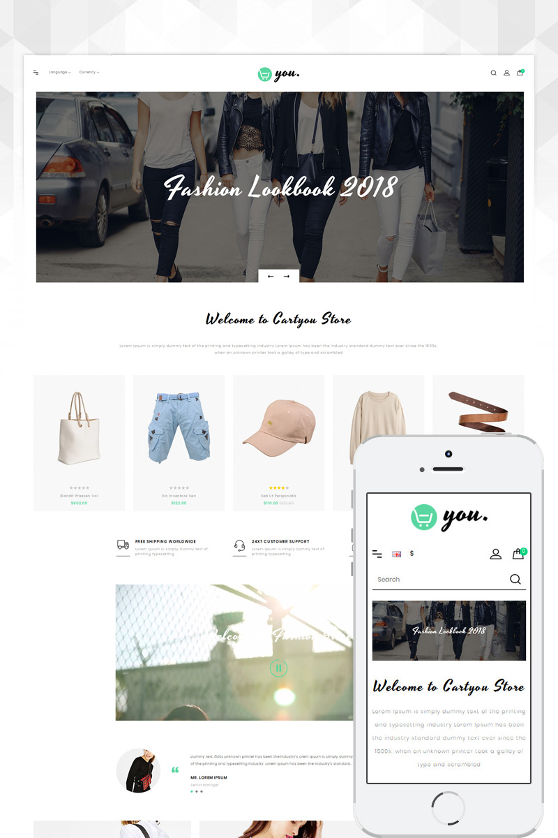 Responsive CartYou - Accessories Store Opencart #80239