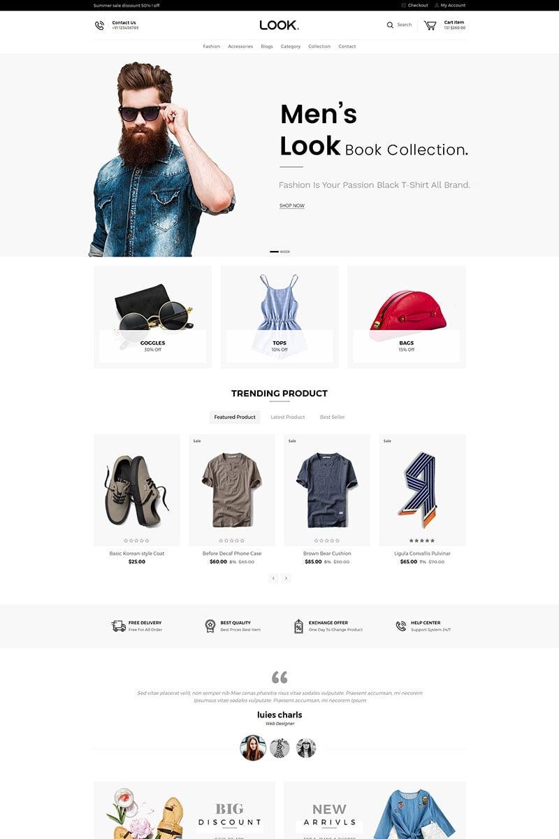 Responsywny szablon Shopify Look Fashion #80251