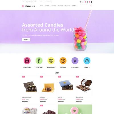 Sweet Shop Responsive MotoCMS Ecommerce šablona
