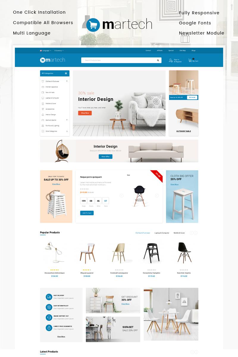 """Responzivní OpenCart šablona """"Martech - Furniture Store"""" #80216"""