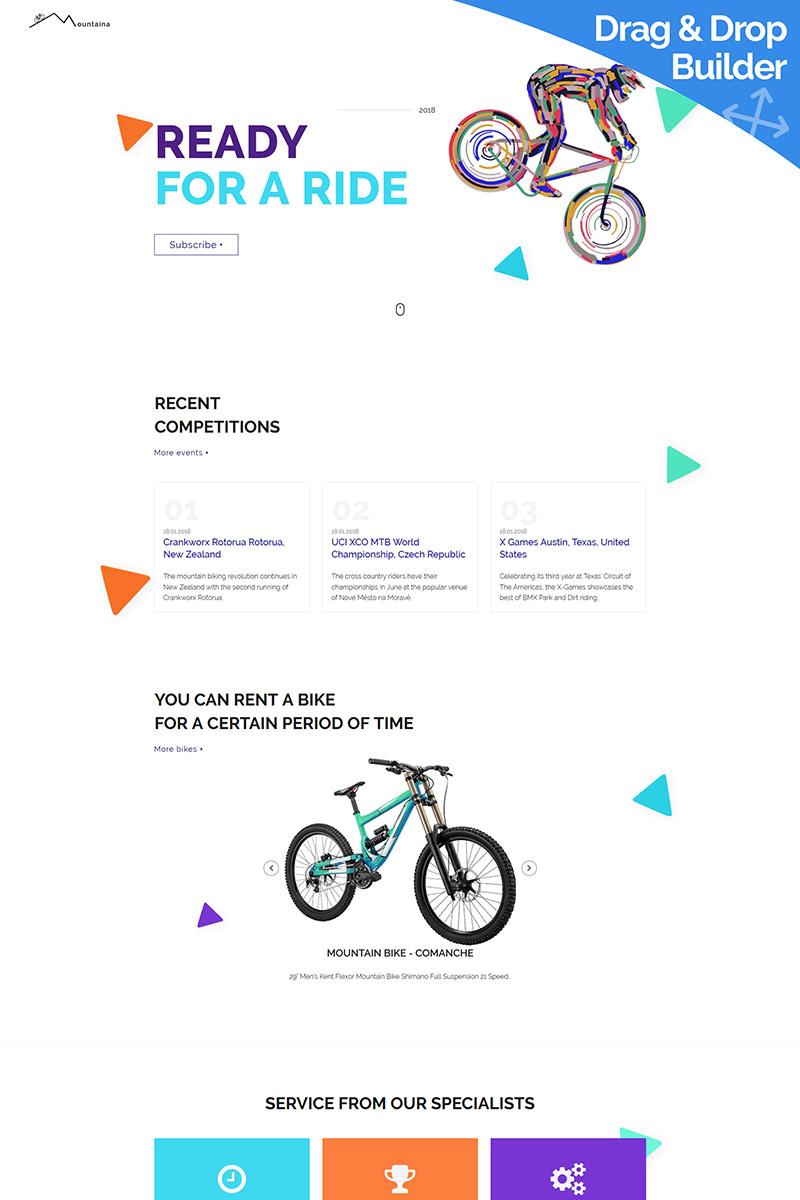 "Tema Moto CMS 3 Responsive #80259 ""Montaina - Cycling Portal"""
