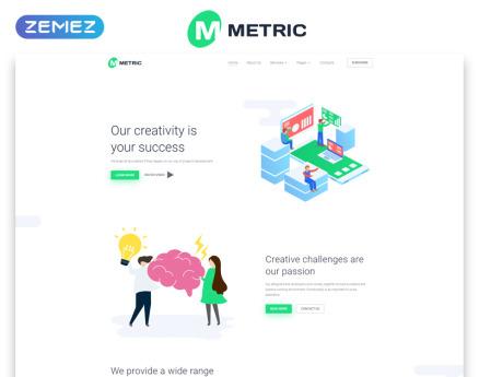 Metric - Web Development Creative Multipage HTML Website Template