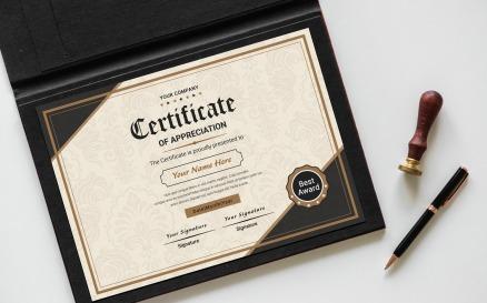 Classic Appreciation Certificate Template
