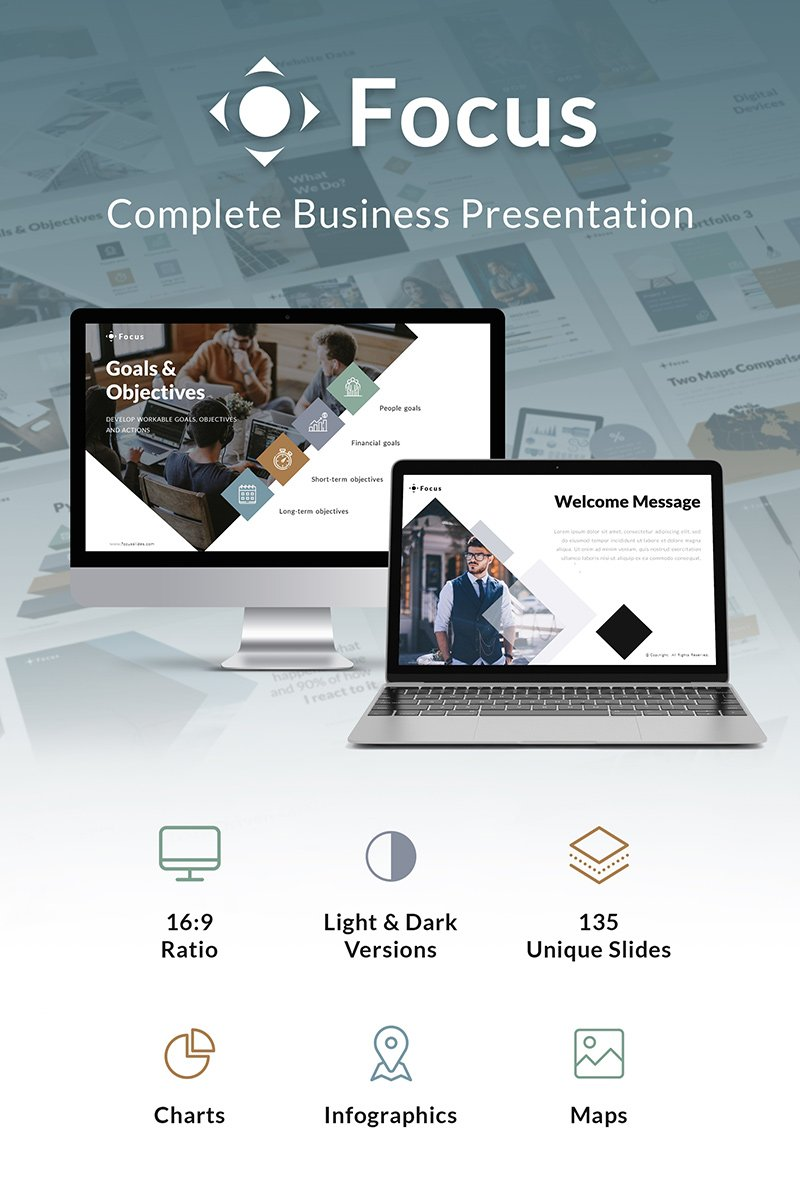 Focus Business Slides PowerPoint Template - screenshot