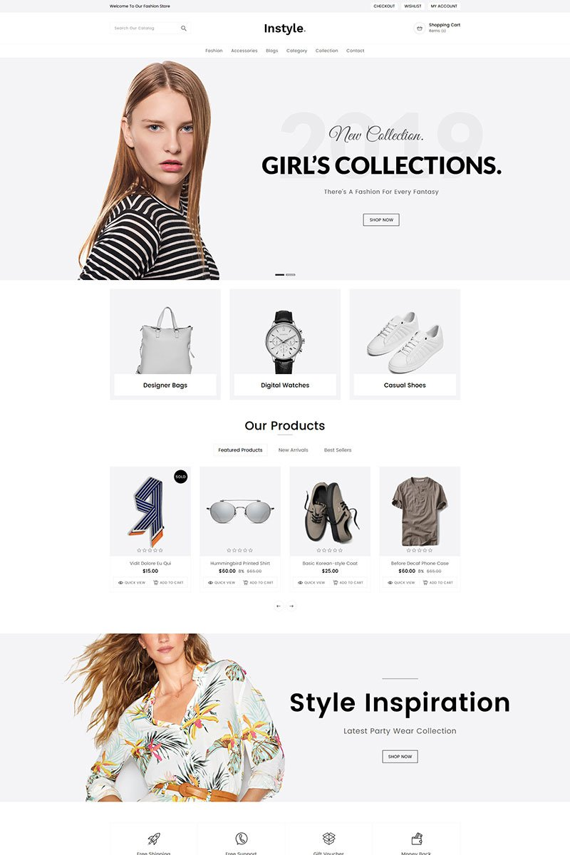 """Instyle Fashion"" Responsive Shopify Thema №80308 - screenshot"