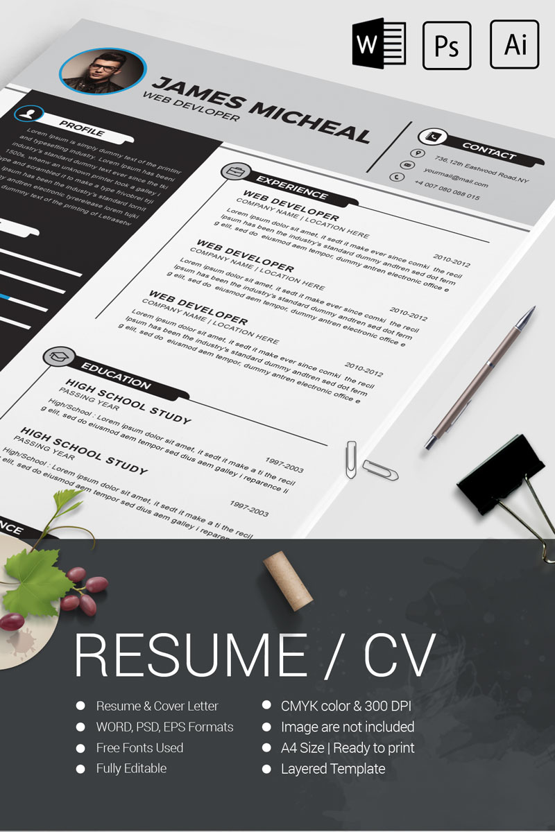 James Micheal Resume Template #80330