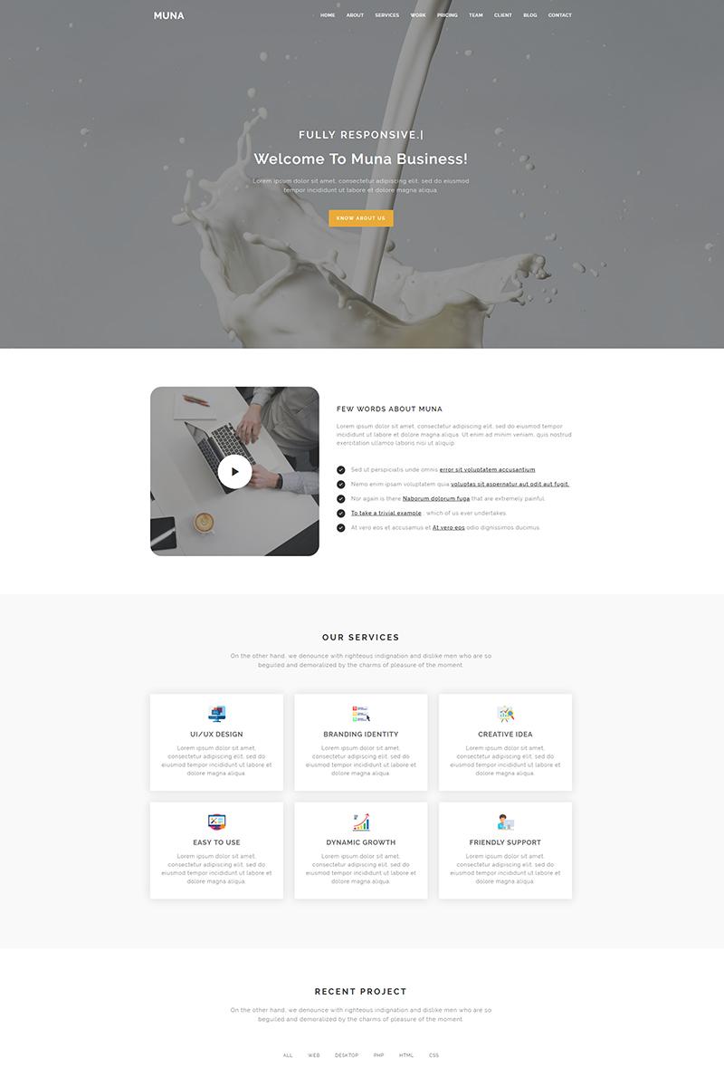 """""""Muna - Business"""" modèle  de page d'atterrissage adaptatif #80337"""