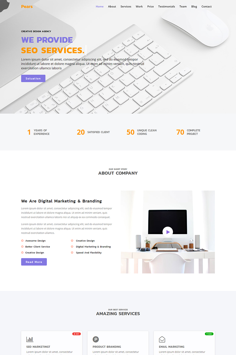 Pears - Business Agency Landing Page Template