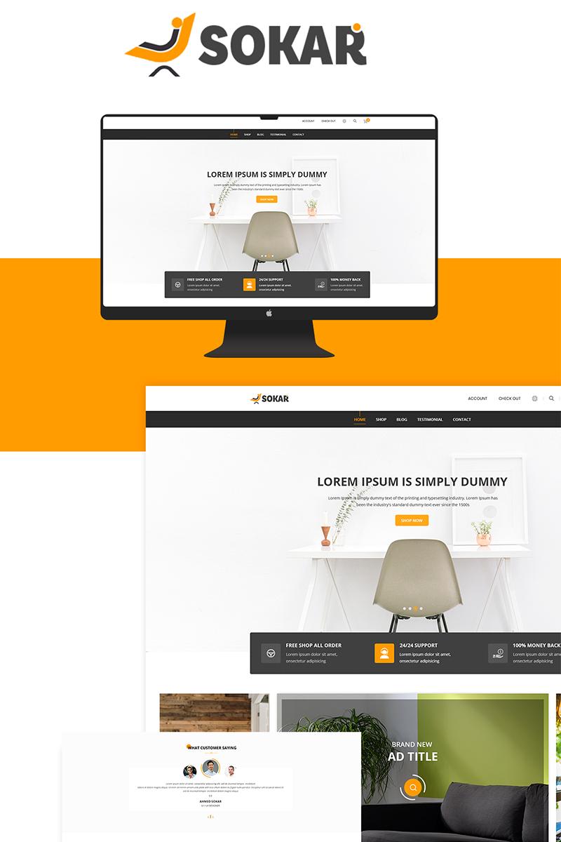 Sokar - Furniture Shop PSD Template