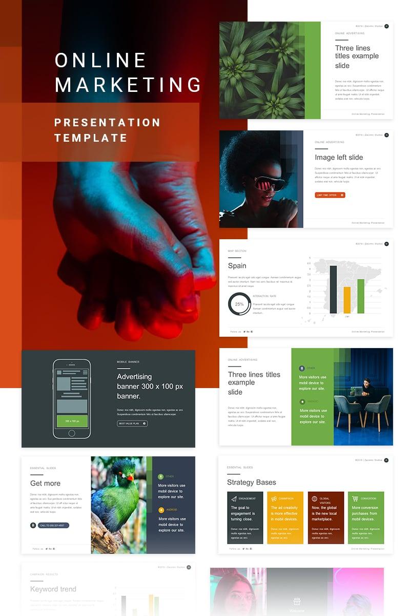 Szablon PowerPoint Online Marketing #80355 - zrzut ekranu